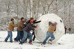Sneeuwbal in Oxford
